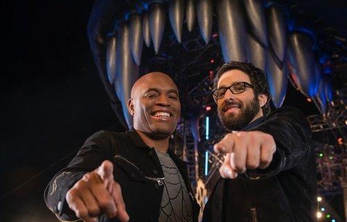Foto de Anderson Silva UFC e do Comediante Rafinha Bastos