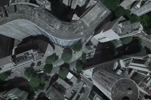 Uma cidade filmada de cima