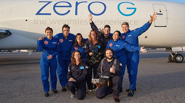 BPS FILM SHOOTS AT NASA AND GOES ZERO GRAVITY